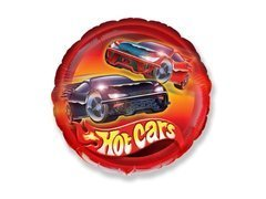 Balon foliowy Hot Cars - Wheels - 47 cm