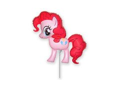 Balon foliowy do patyka My Little Pony - Pinkie Pie - 37 cm