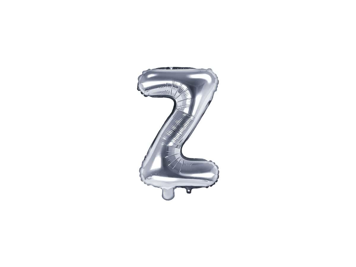 Balon Foliowy Litera Z Srebrna 35 Cm Kod Produktu Fb2m Z 018