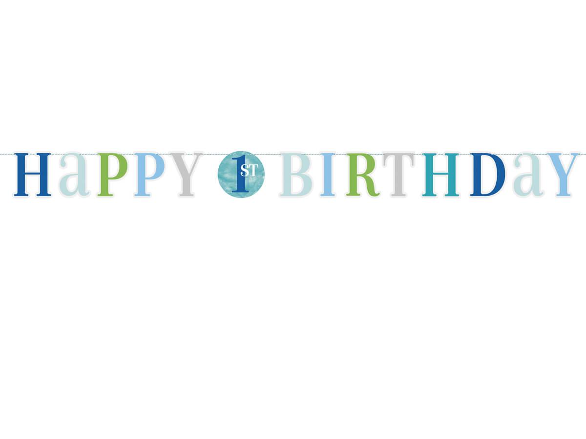153f8f21df7aa4 Baner na roczek 1 urodziny - 180 cm - Kod produktu: U73308 - Cena ...