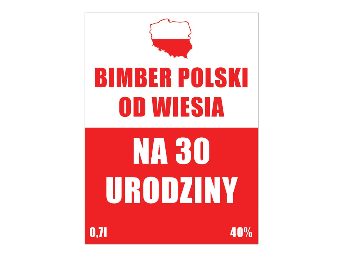 Etykiety Personalizowane Na Butelke Bimber Polski 9 Szt Kod