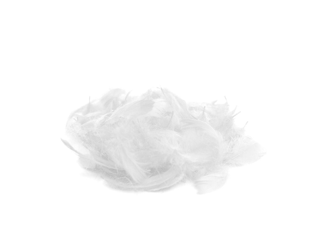 Piórka Dekoracyjne Białe 11 G