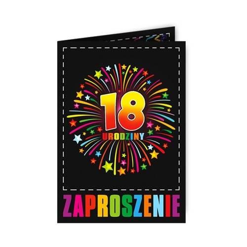 Zaproszenie 18 Na Osiemnastkę 1 Szt Kod Produktu Zx8903 Cena