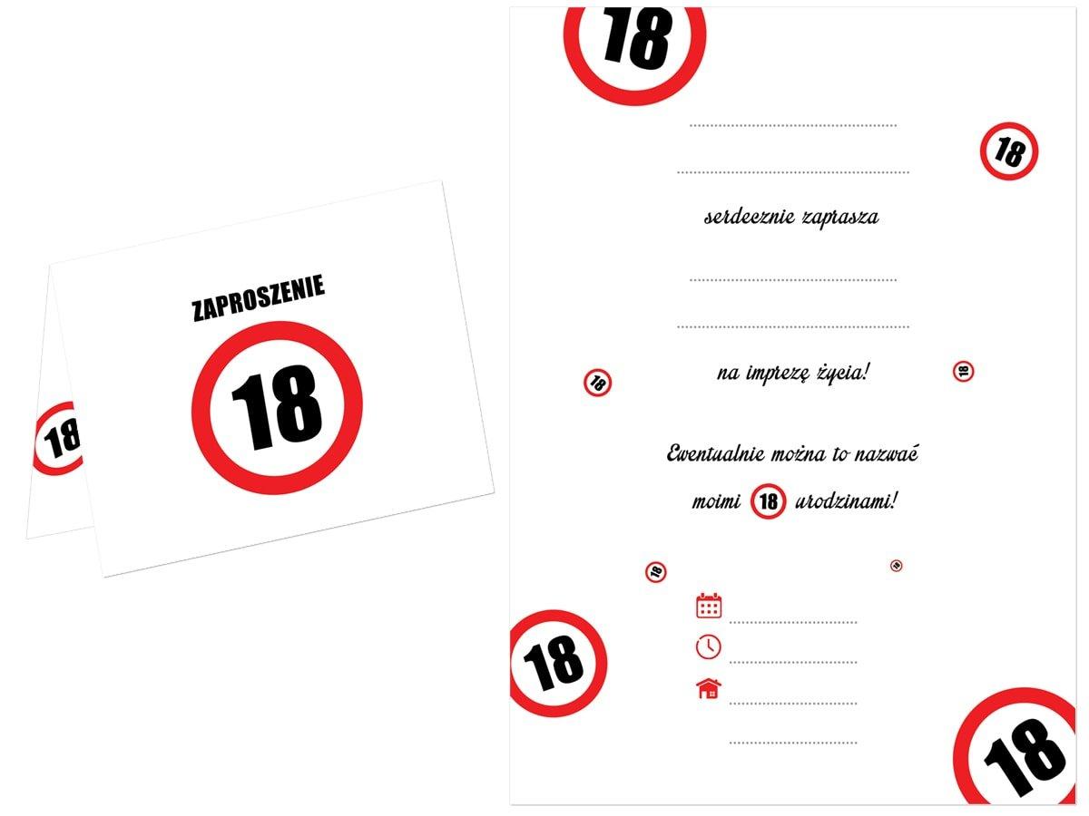 Zaproszenie Na 18 Tke Znak Zakazu 1 Szt Kod Produktu Zap Zakaz