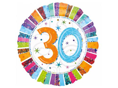 Balon foliowy 30te urodziny - Trzydziestka - 47 cm
