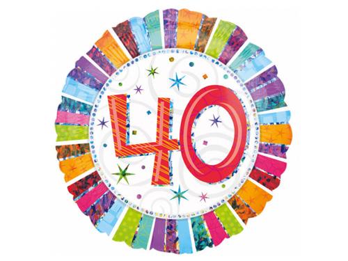 Balon foliowy 40te urodziny - Czterdziestka - 47 cm
