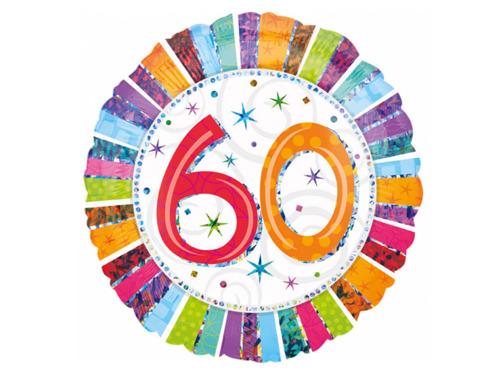 Balon foliowy 60te urodziny - Sześćdziesiątka - 47 cm