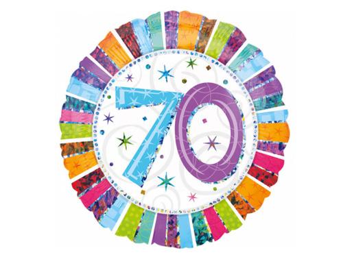 Balon foliowy 70te urodziny - Siedemdziesiątka - 47 cm