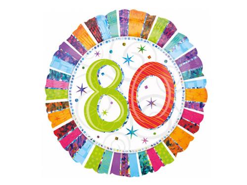 Balon foliowy 80tka - Osiemdziesiątka - 47 cm
