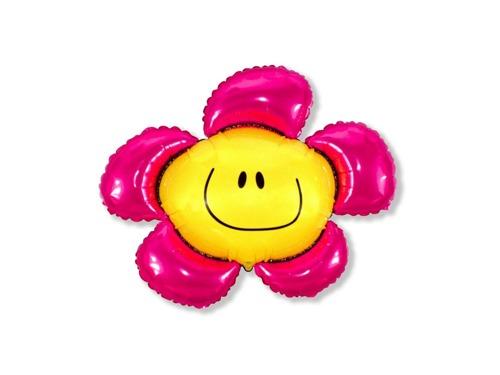 Balon foliowy Kwiatek Różowy 94 cm
