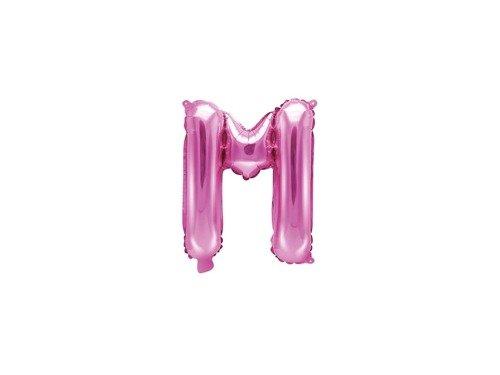 """Balon foliowy litera """"M"""" różowa - 35 cm"""