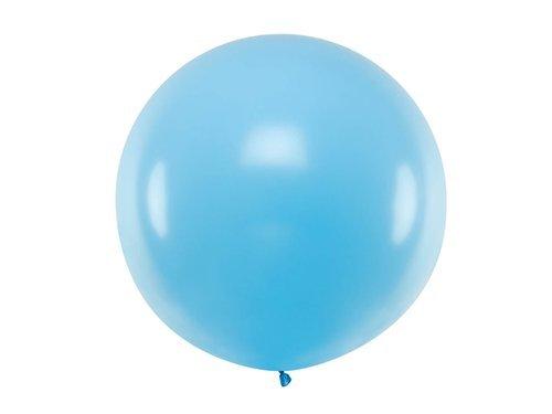Balon olbrzym 1 m średnicy - błękitny pastel.