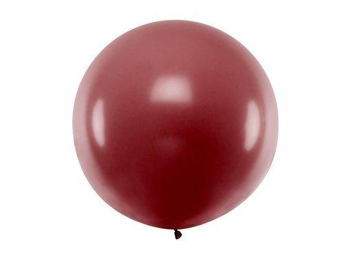 Balon olbrzym 1 m średnicy - bordo pastel.