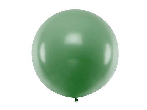 Balon olbrzym 1 m średnicy - ciemno zielony pastel.