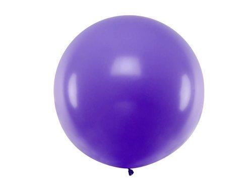 Balon olbrzym 1 m średnicy - lawendowy pastel.