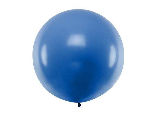 Balon olbrzym 1 m średnicy - niebieski pastel.