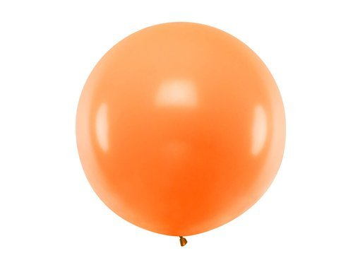 Balon olbrzym 1 m średnicy - pomarańczowy pastel.
