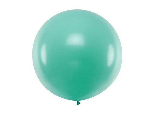 Balon olbrzym 1 m średnicy - turkusowy pastel.