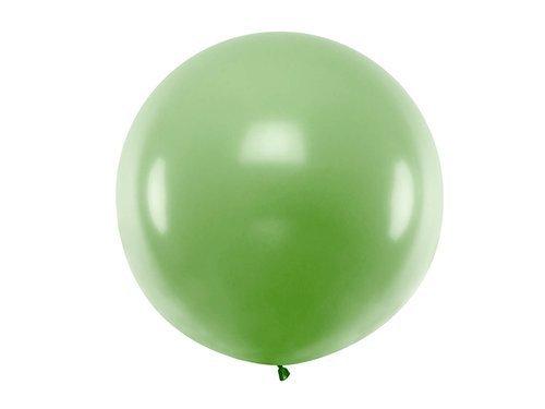 Balon olbrzym 1 m średnicy - zielony pastel.