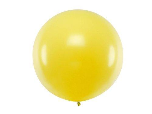 Balon olbrzym 1 m średnicy - żółty pastel.