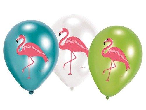 Balony urodzinowe Flamingi - 6 szt.