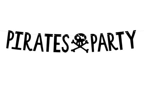 Baner urodzinowy Pirates Party - 14 x 100 cm - 1 szt.