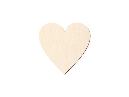 Drewniane scrapki serca - 10 szt
