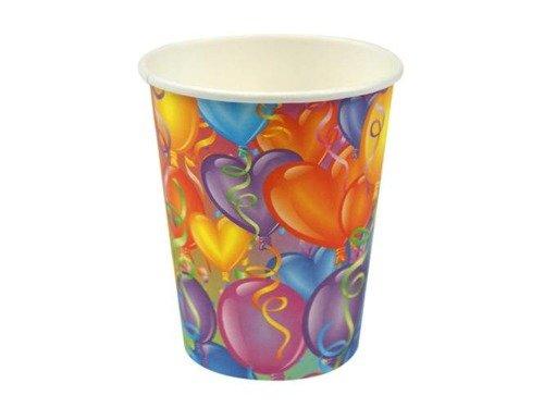 Kubeczki papierowe Baloniki - 266 ml - 6 szt.