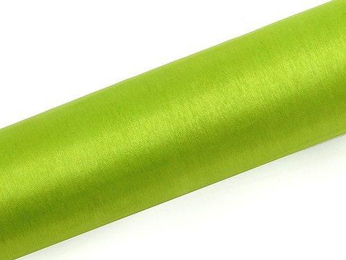 Organza gładka jasno-zielony - 16 cm x 9 metrów