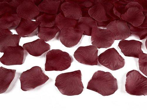Płatki róż - bordowe - 100 szt.