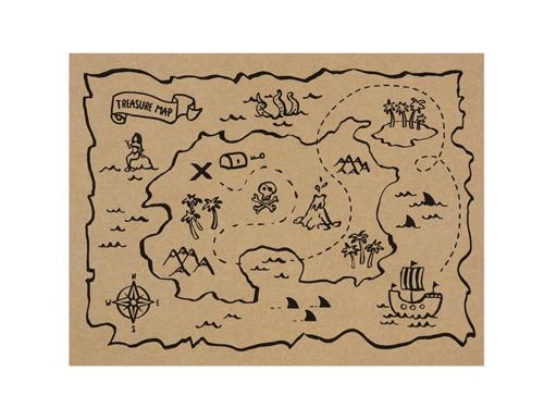 Podkładki papierowe Piraci - 40 x 30 cm - 30 szt.