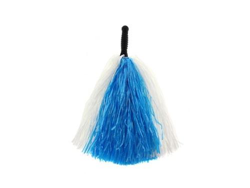 Pompony cheerleaderki biało - niebieskie - 1 szt.
