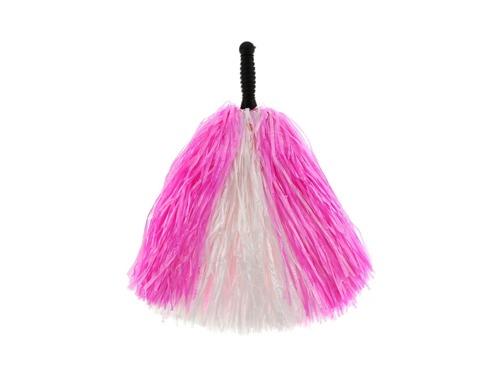 Pompony cheerleaderki biało - różowe - 1 szt.