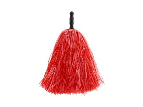 Pompony cheerleaderki czerwone - 1 szt.