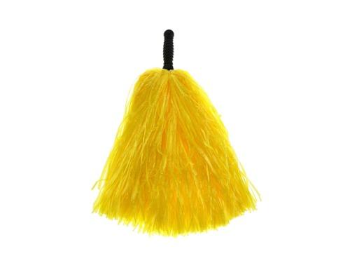 Pompony cheerleaderki żółte - 1 szt.