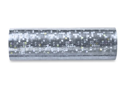 Serpentyna holograficzna - srebrna - 18 szt.