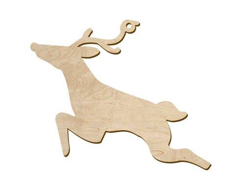 Zawieszka drewniana Renifer - 12,5 cm - 1 szt.