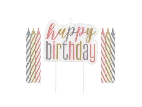 Zestaw świeczek Happy Birthday - 7 szt.