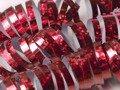 Serpentyna holograficzna - czerwona - 18 szt.