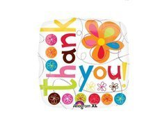 Balon foliowy Thank you - 18""