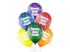 "Balony Happy New Year - 12"" - 6 szt."