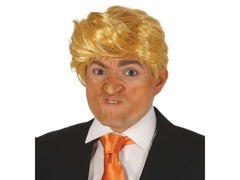Blond peruka a'la Donald Trump - 1 szt.
